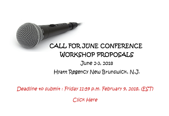 CALL FOR PROPOSALS Interested in presenting at the NJ SCBWI Summer Conference? June 2-3, 2018 Hyatt Regency New Brunswick, N.J. We have limited spots available and are looking for workshop presenters who inspire, inform—and push the edge of learning for our attendees. As always we love to see workshops on idea generation, all aspects of the craft of writing orillustratingforadvanced or beginner levels. We would also love to see more of the following: PAL (Published and listed with SCBWI) oriented workshops Specific craft related topics Workshops on areas of diversity; writing/illustrating, research, etc. Workshops featuring experts in fields for author research. We are no longer offering the Co-Presentation option. (Please Note: Terms are non-negotiable so please read carefully and agree to before applying). Deadline to submit a proposal : Friday, February 9, 2018, 5:00 pm (EST). No late proposals will be accepted TO APPLY: click to submit a proposal here. Best wishes for an exciting year ahead, everyone! Cathy, Rosanne, Karen and the NJSCBWI Team